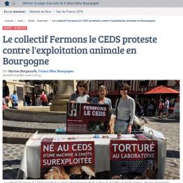 Article France Bleue – Dijon – 16 juillet 2016 – Fermons Le CEDS